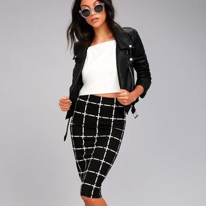 ASOS Grid Pencil Skirt